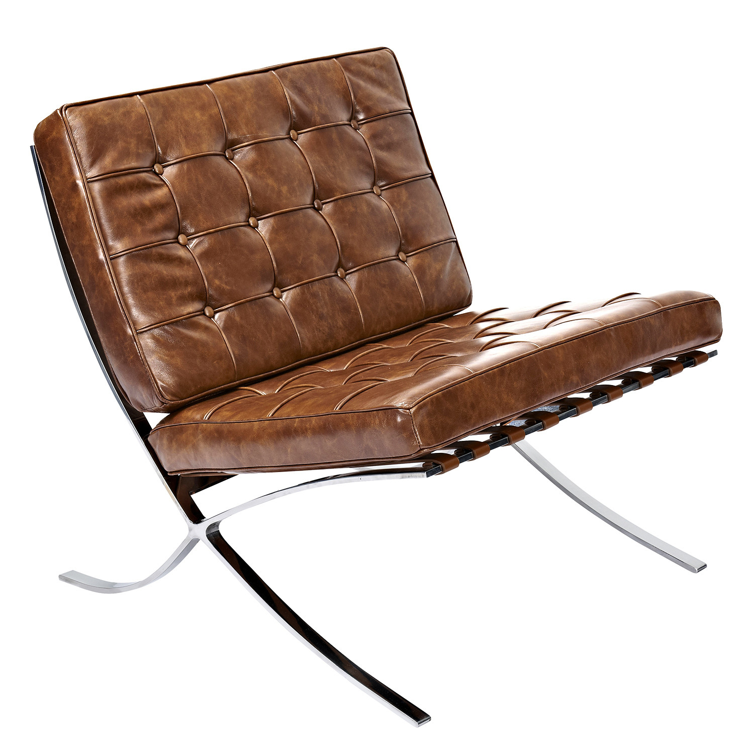 Weathered Whiskey Mies Chair