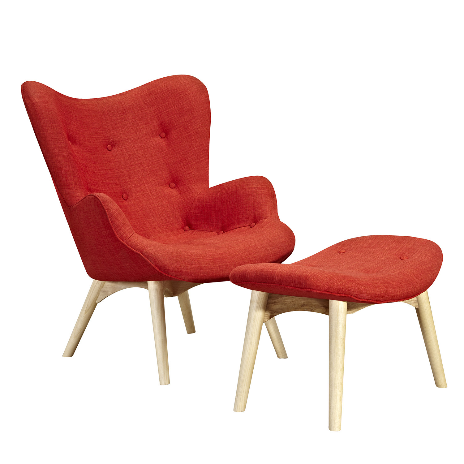 Aiden Red Chair-Natural