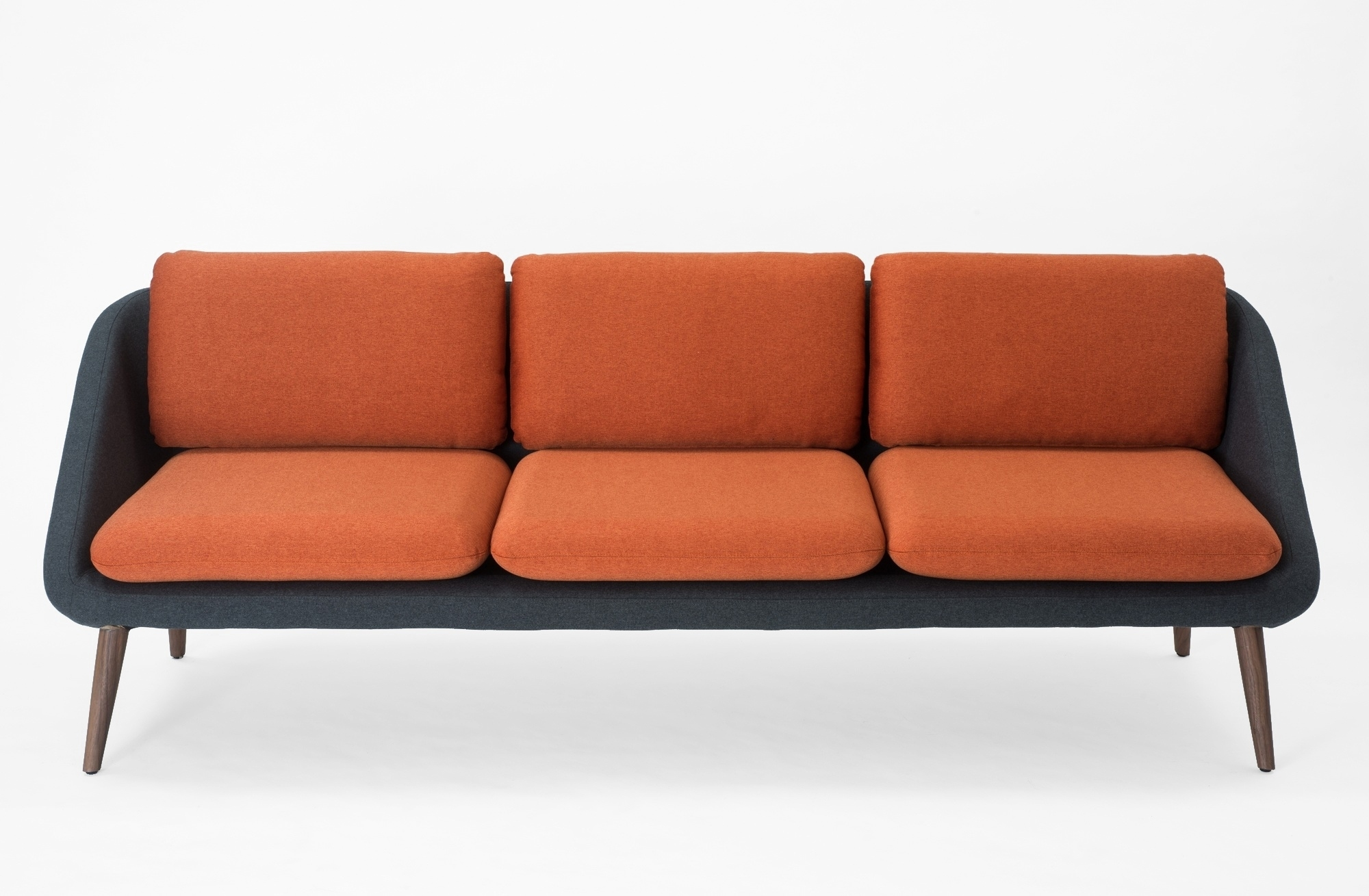 Venice Sofa - Grey / Orange