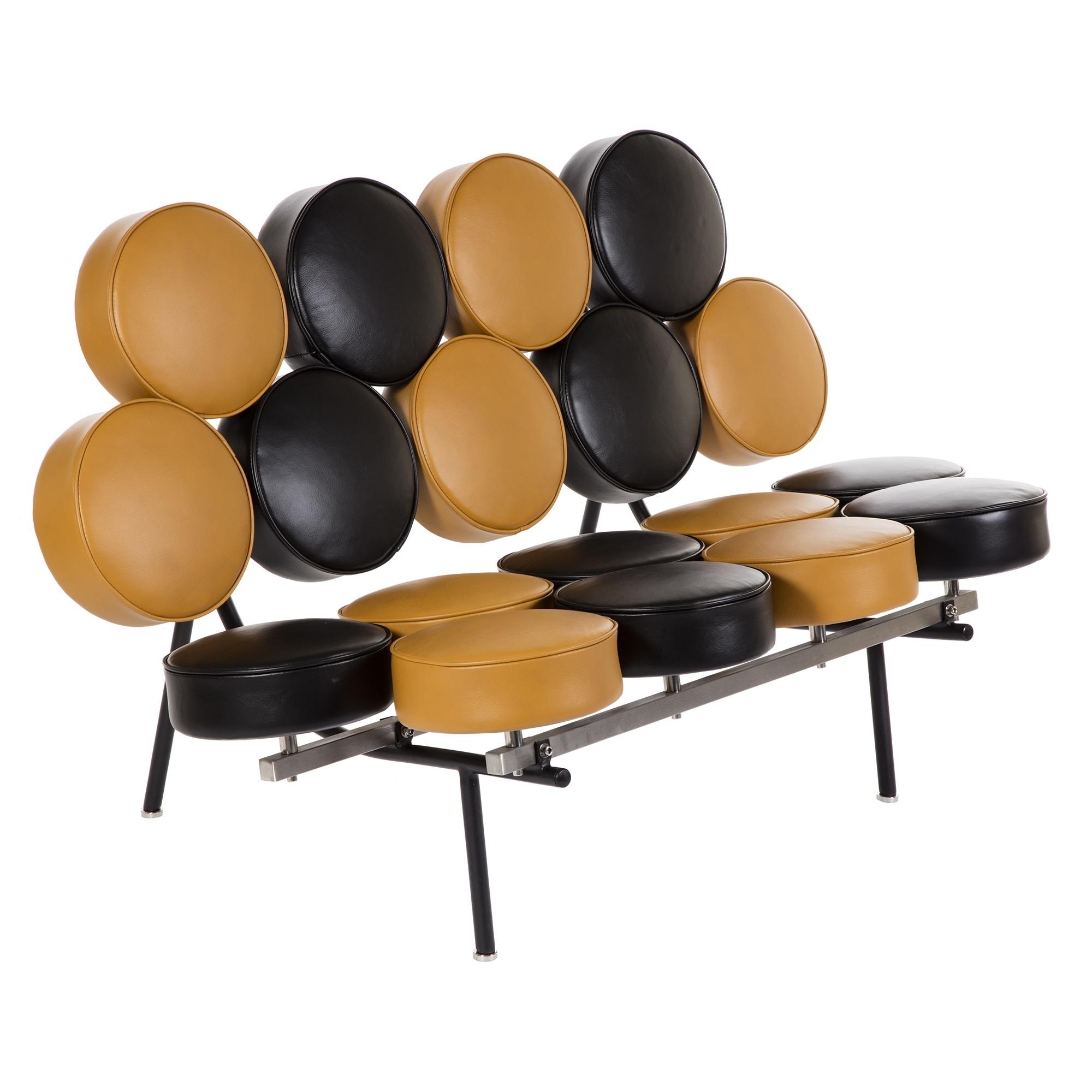 Marshmallow sofa - Black / Brown