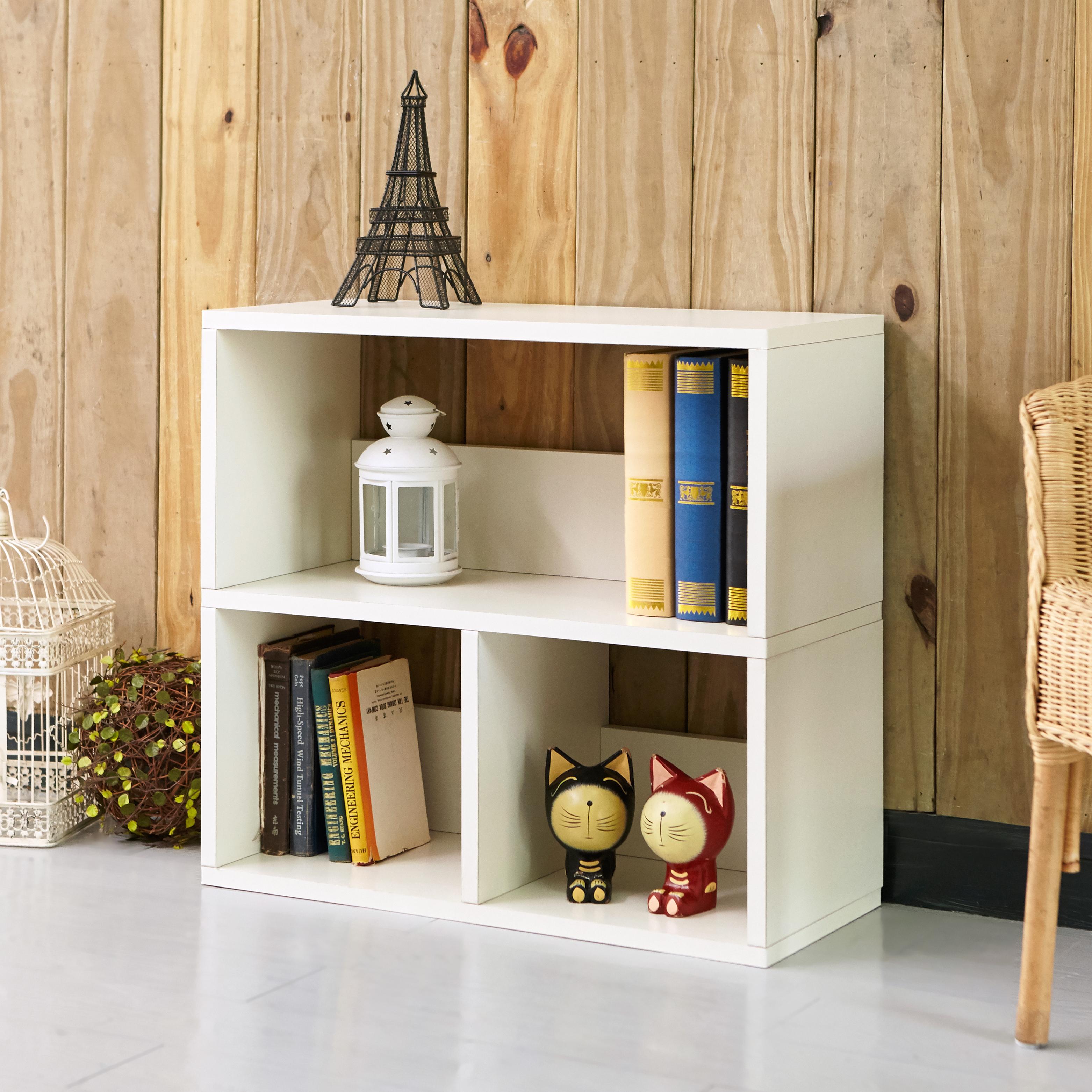 Way Basics Eco Friendly Collins Cubby Bookshelf and Organizer, White (Lifetime Warranty)