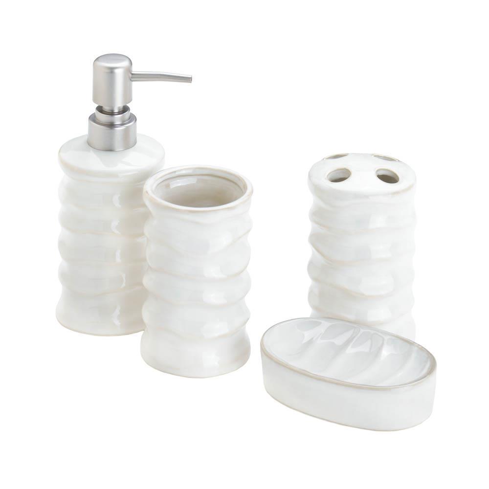 Accent Plus Porcelain White Bath Accessory Set