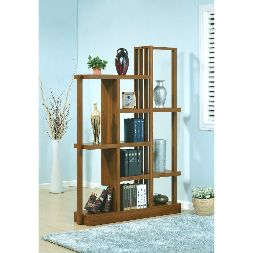 Contemporary Style Display Cabinet With 10 Open Shelves.