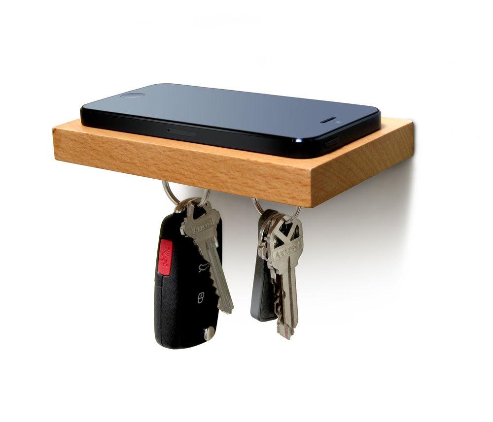 Plank__Floating_Shelf_for_Phone_Wallet_Keys_or_Sunglasses_in_Natural