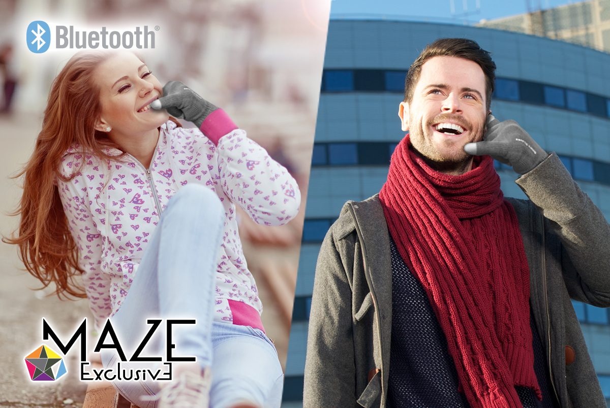 Maze Exclusive Bluetooth Smart Gloves With Built In Siri - Medium, Pink 54907bd7503d6f2e4300015c