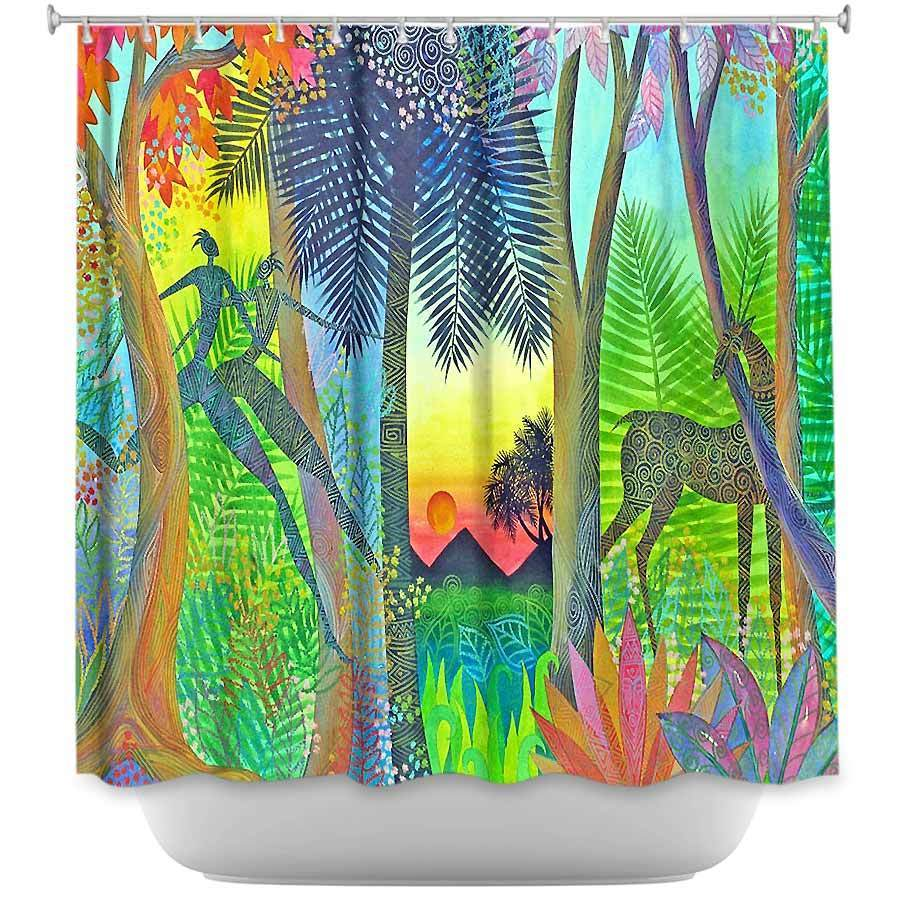 Shower Curtains - DiaNoche Designs - Twilight The Gate Between Worlds