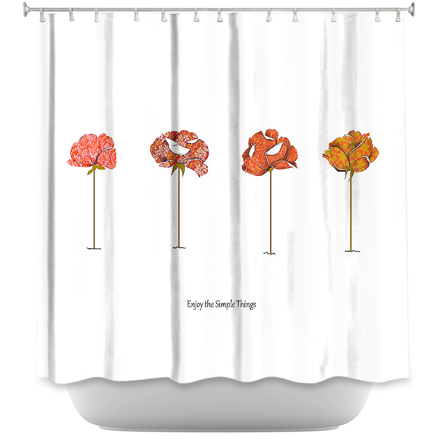 Shower Curtains - DiaNoche Designs - Enjoy the Simple Things