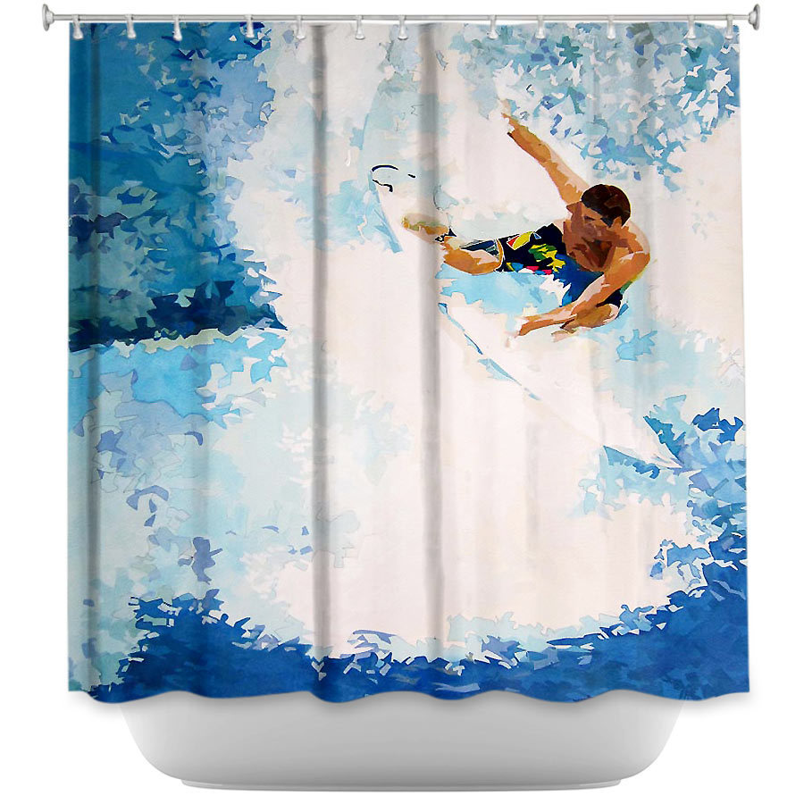 Shower Curtains - DiaNoche Designs - Catch the Next Wave Surfing