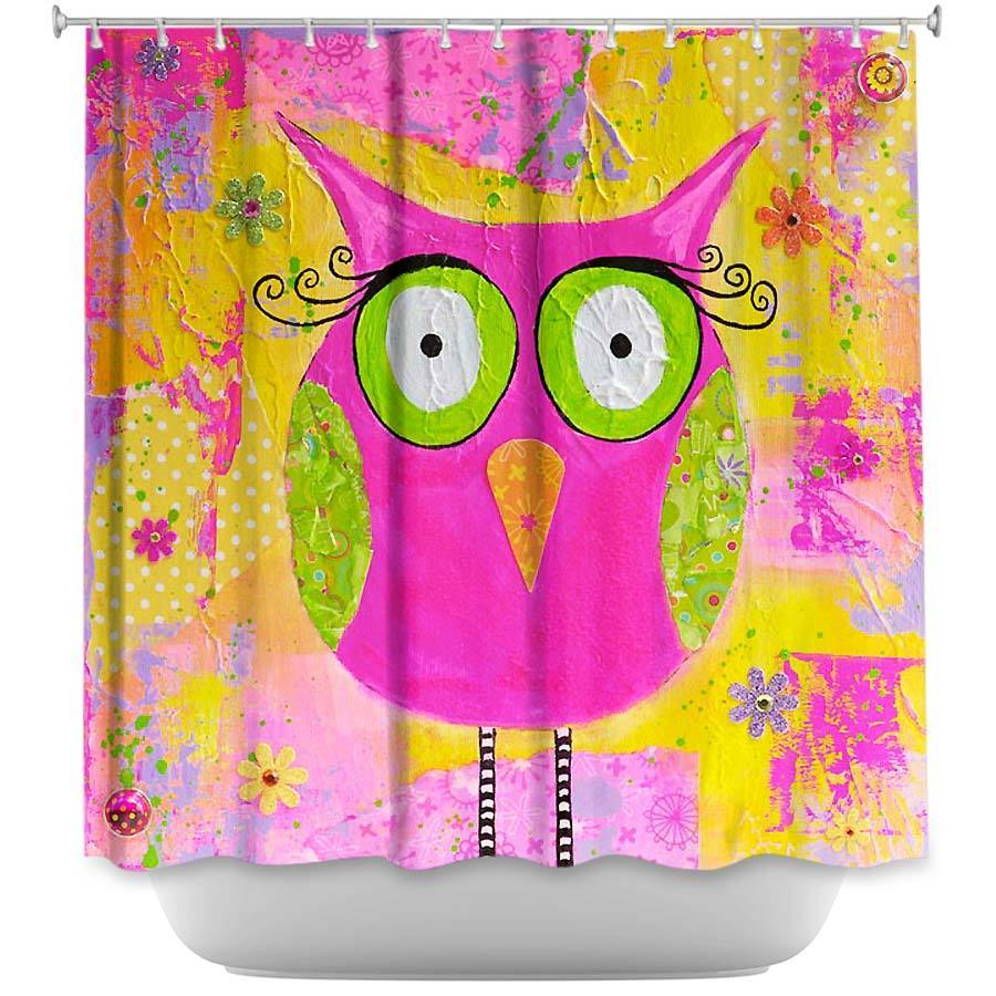 Shower Curtains - DiaNoche Designs - Hootie the Owl