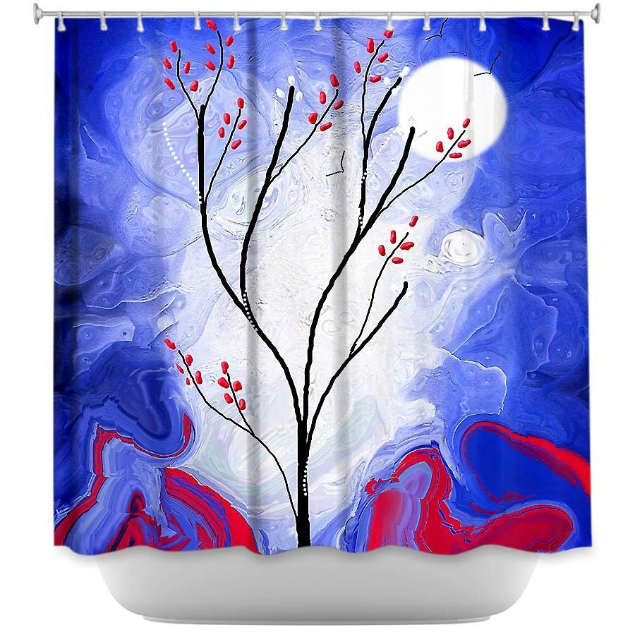 Shower Curtains - DiaNoche Designs - Touch the Moon