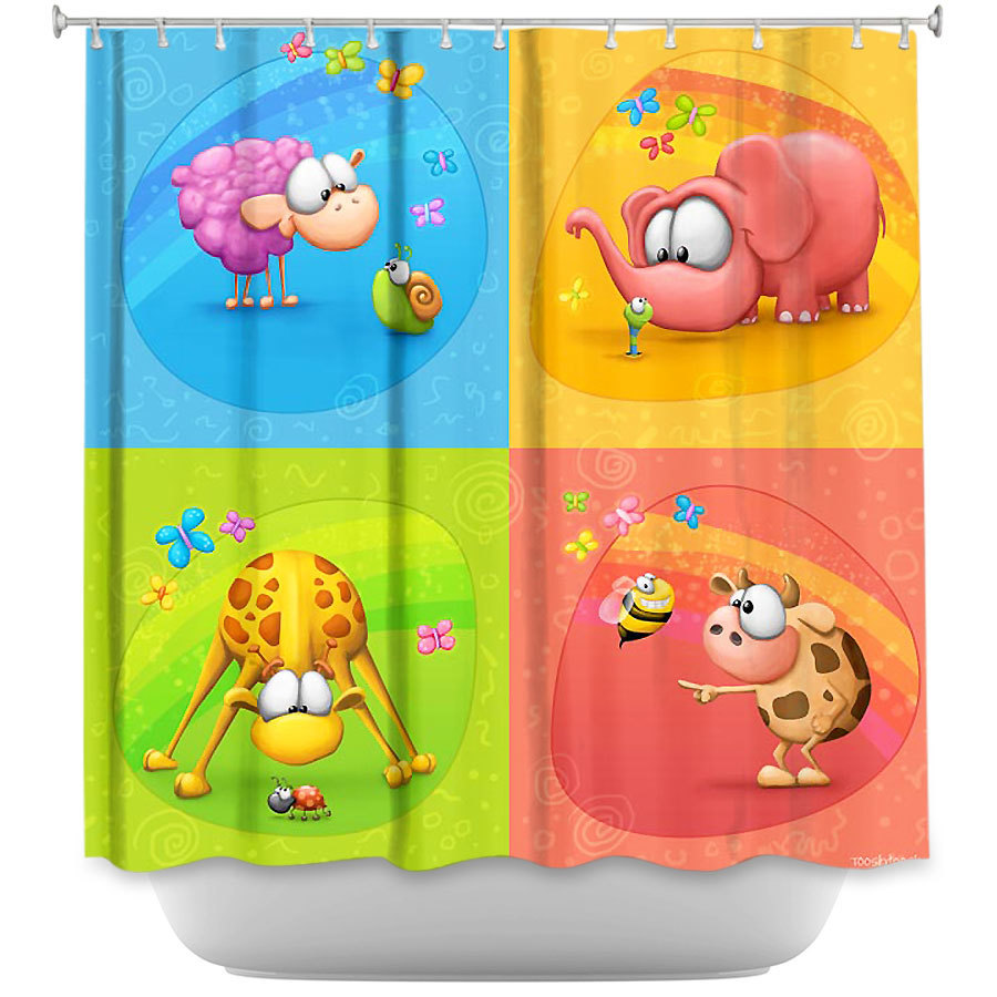 Shower Curtains - DiaNoche Designs - Meet the Little Ones