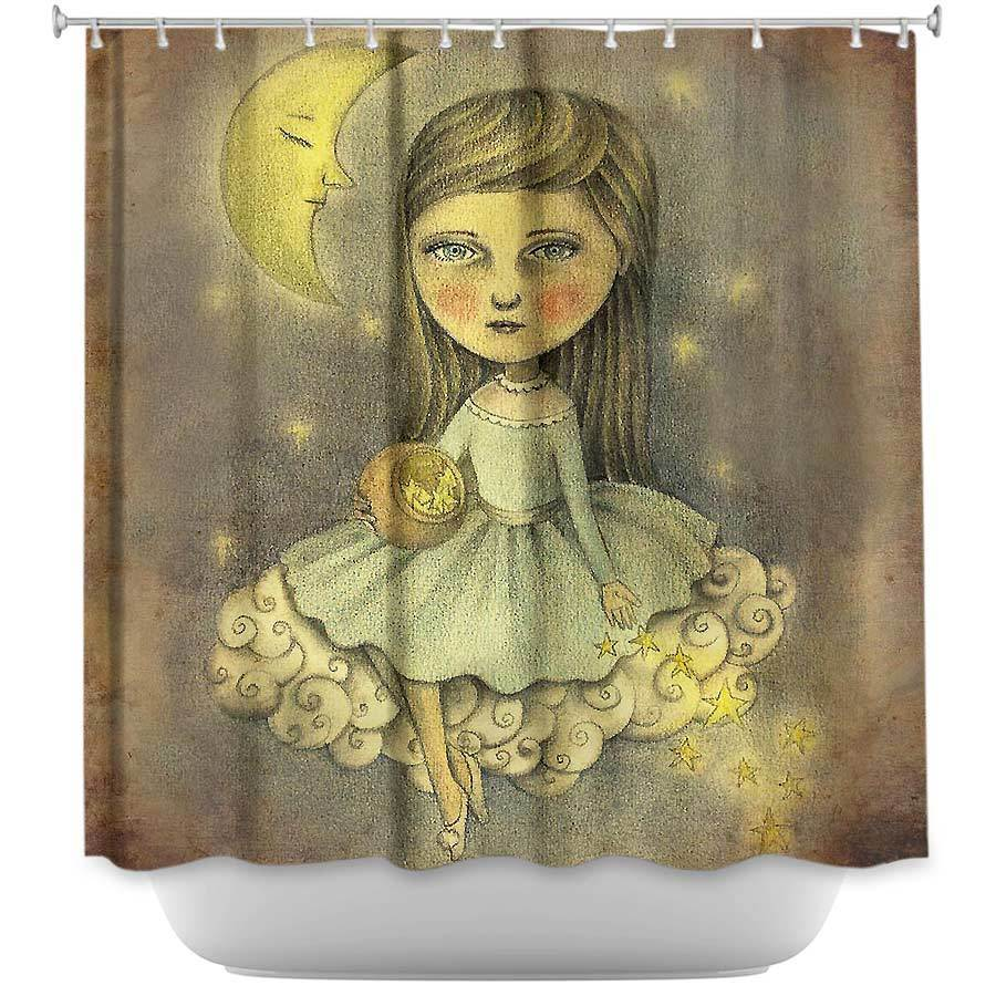 Shower Curtains - DiaNoche Designs - With the Stars Above