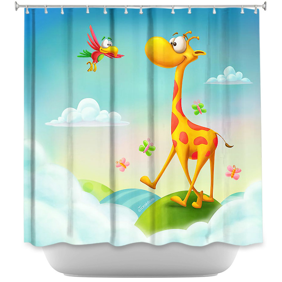 Shower Curtains - DiaNoche Designs - At the Hop