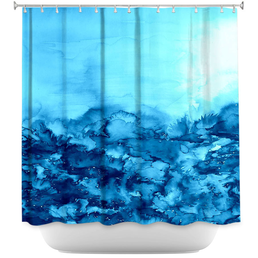 Shower Curtains - DiaNoche Designs - Into the Eye Turquoise