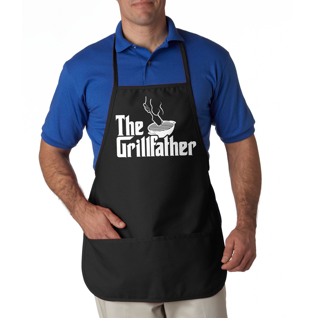 Father's Day Combo The Grillfather Apron and World's Okayest Dad Shirt - Mens Small 553a8489683d6f68258b4751
