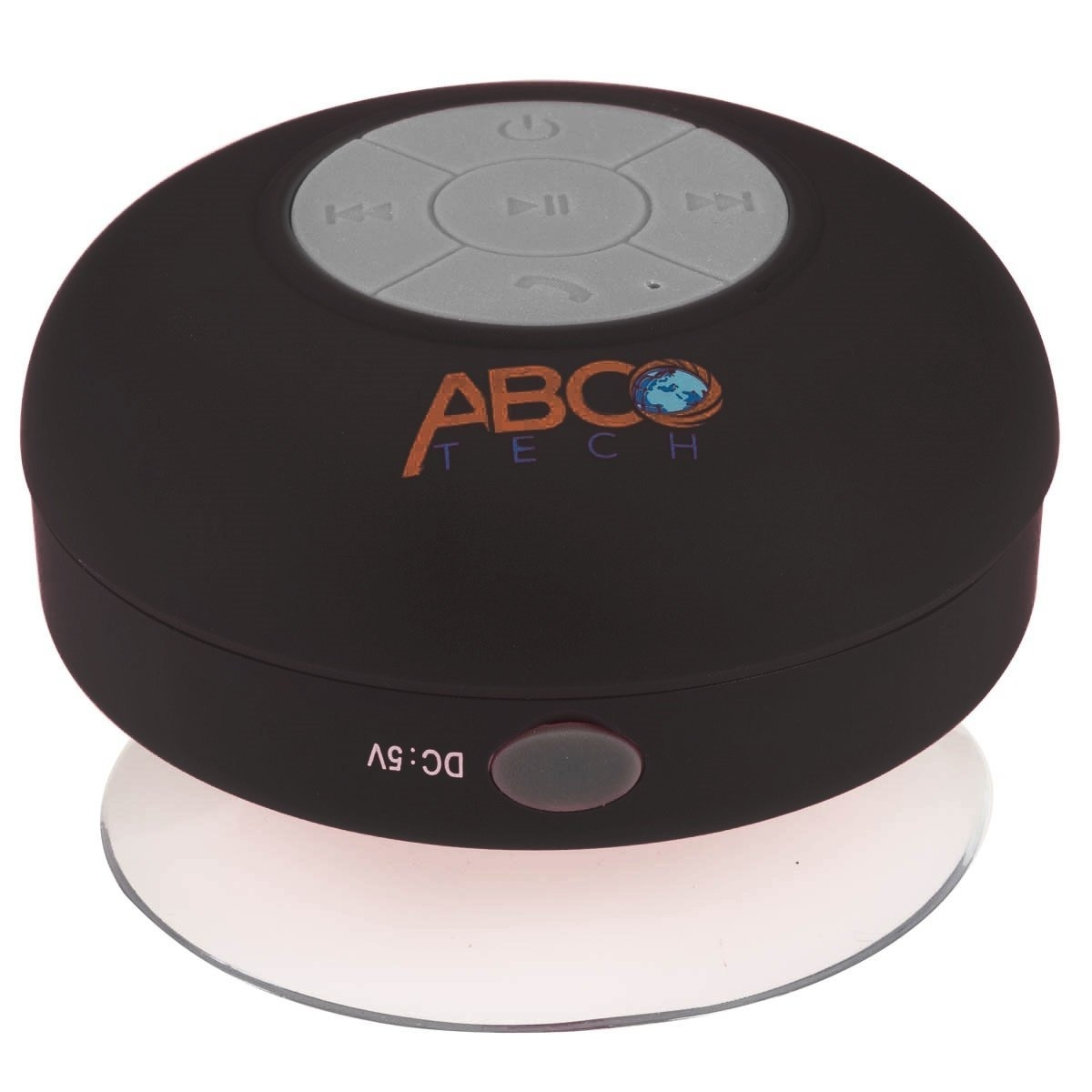 Abco Tech Water Resistant Wireless Bluetooth Shower Speaker with Suction Cup and Hands-Free Speakerphone - black 5555068c493d6f7c038b5d47
