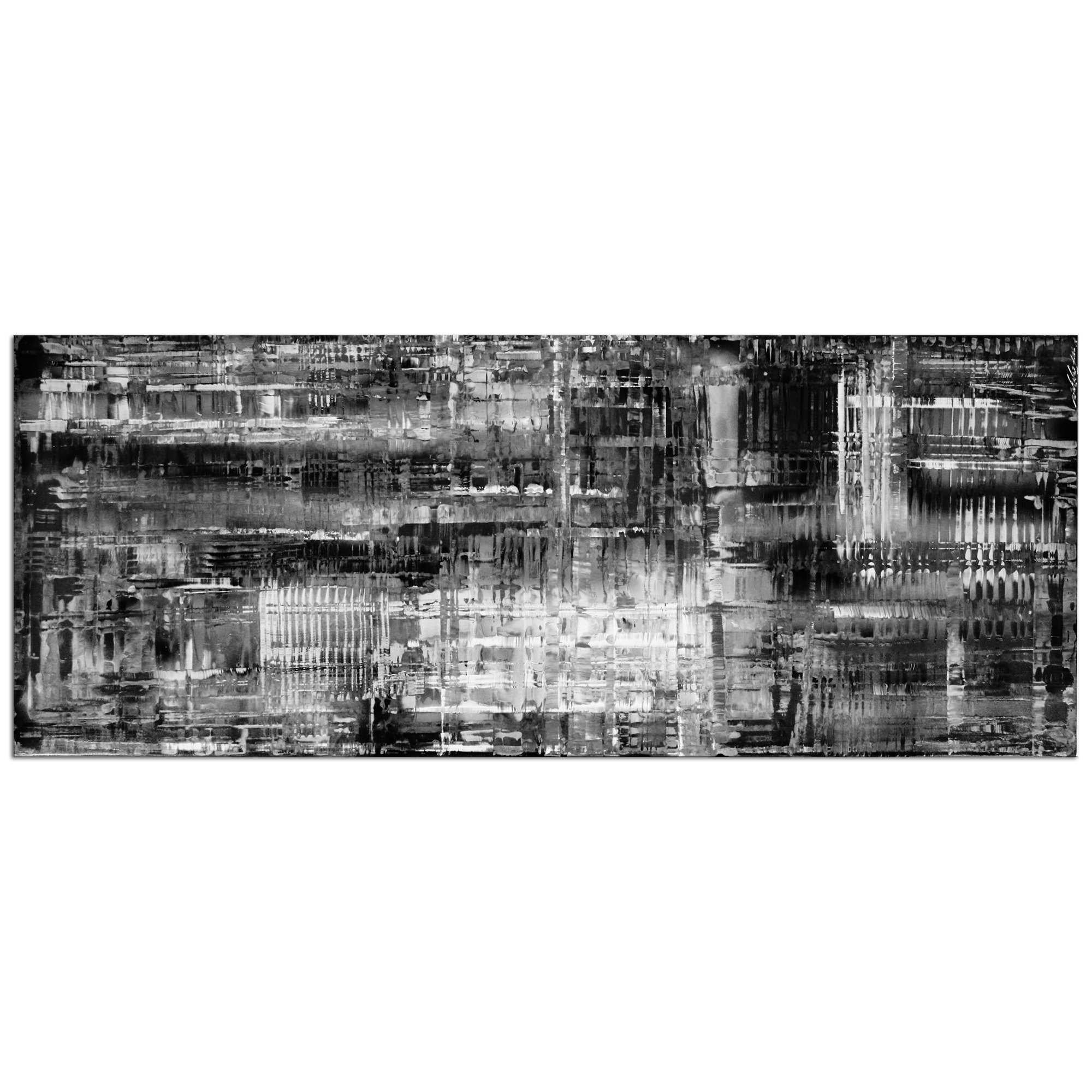 Black & White Art 'Aporia B/w' - Minimalist Monochrome Decor - Contemporary Artwork - Modern Metal Wall Art - Urban Style Metallic Painting