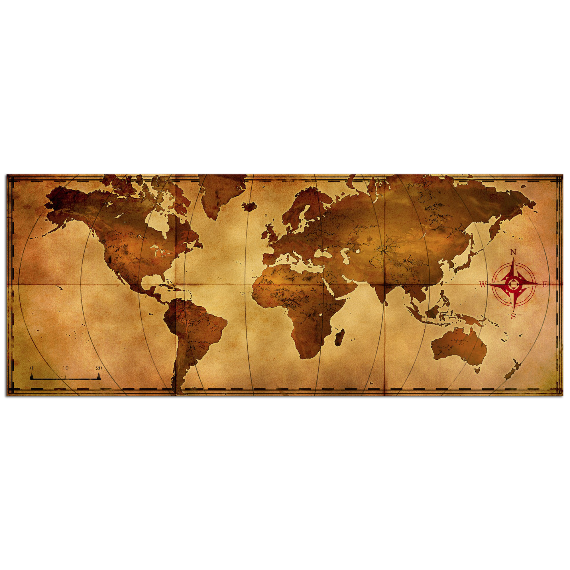Metal Art Studio Map Wall Vanityold Map Vanity Aged Antique Metal Travel Artwork Hist World