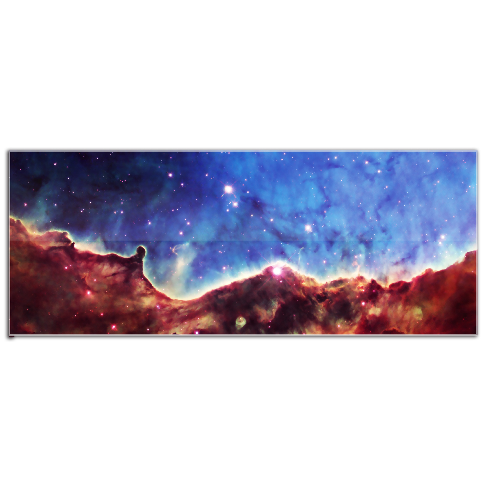 Acrylic Nebula Artwork 'Celestial Landscape' Abstract Outer Space Wall Art - HD Reverse-Print Hubble Photo Decor, Glossy Plexiglas Artwork
