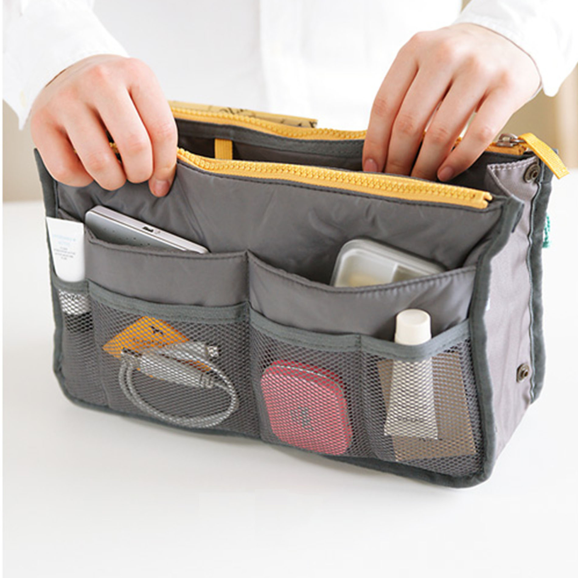 Collapsible Purse Organizer - BLUE (AMARYLL-B869) photo