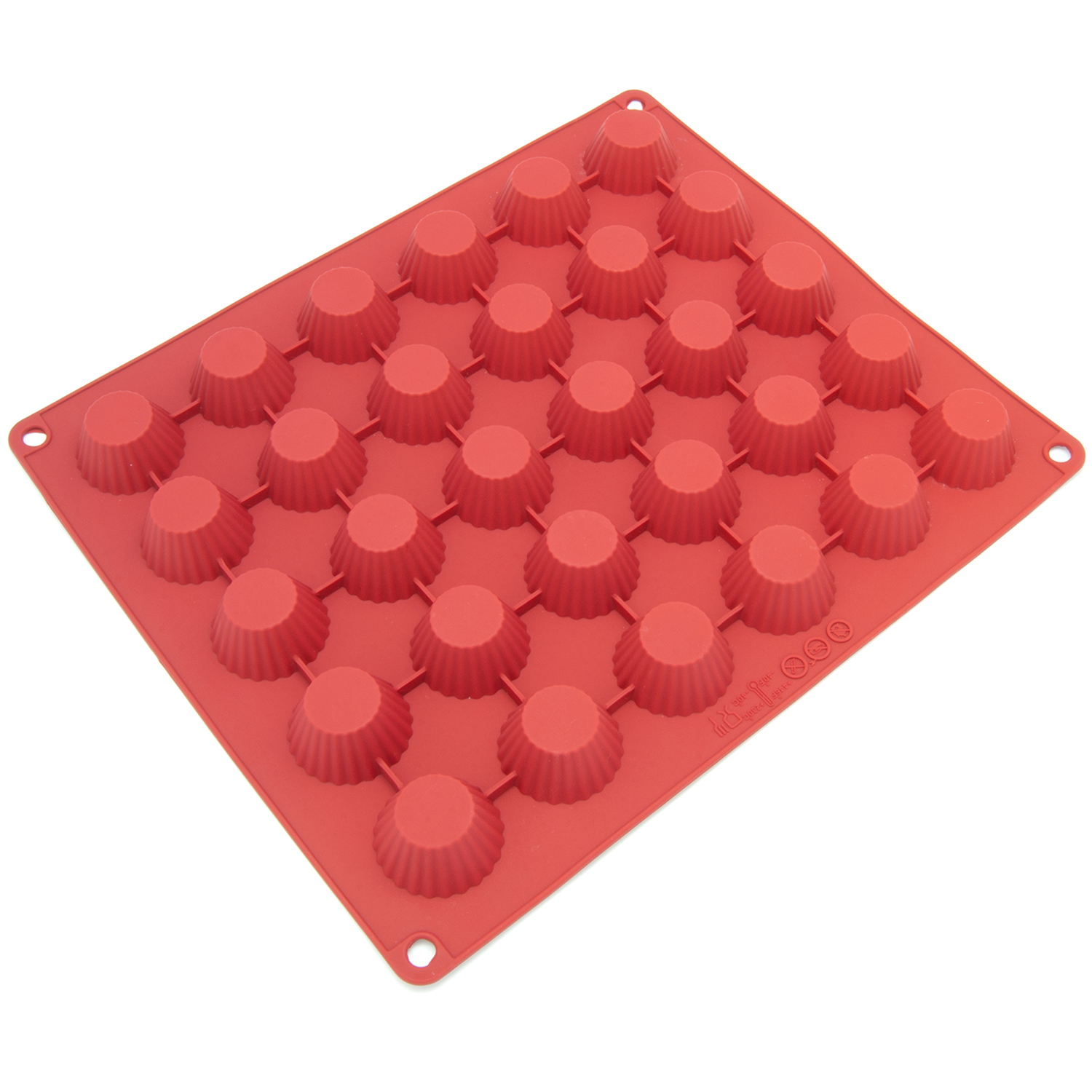 Freshware Silicone Mold, Chocolate Mold, Candy Mold, Ice Mold, Soap Mold for Chocolate, Candy and Gummy, Peanut Butter Cup, 30-Cavity 554e30d57aaaaa6d388b46c3