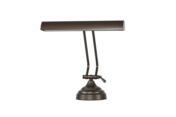 "12"" Mahogany Bronze Dimmable Piano Desk Lamp"