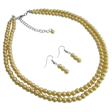 Ns1118 Gift For Mother Wife Girl Friend Wedding Favors Yellow Pearls Jewelry