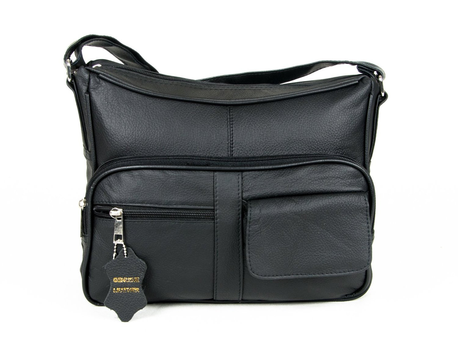 AFONiE Soft Leather Purse - Black photo