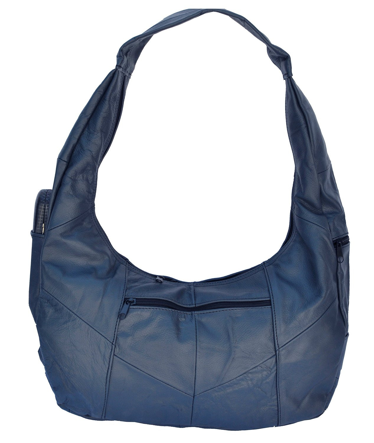 Large Mexican Leather Hobo Style Purse - Blue (AFONiE) photo