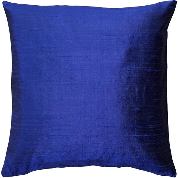 Pillow Decor - Sankara Ink Blue Silk Throw Pillow 20x20 56578f59a3771c8f498bcccf
