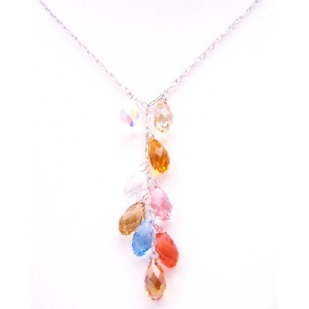 Handcrafted Gorgeous Multicolor Swarovski Top Drilled Teardrop Gift 53e7ebdb4b3d6f500600006d
