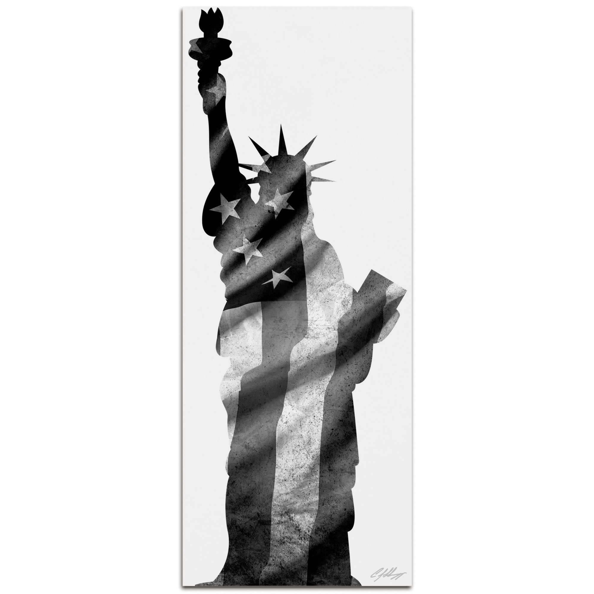 Metal Art Studio Liberty Metal Patriotic Lady