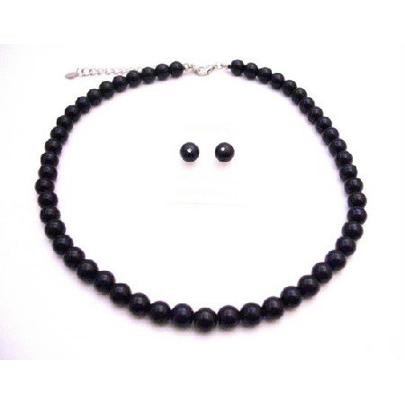 Black Pearls Wholesale Jewelry Junior Bridemaids And Bridemaids Necklace Set In USA