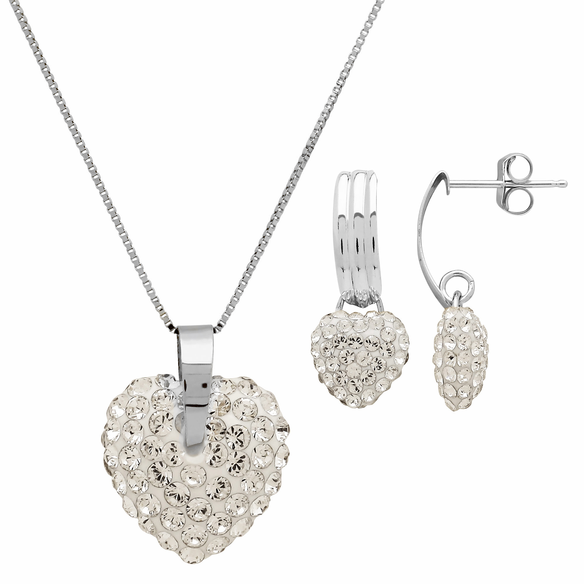 Rhodium_Plated_Crystal_Puffed_Heart_Necklace_and_Earrings_Set