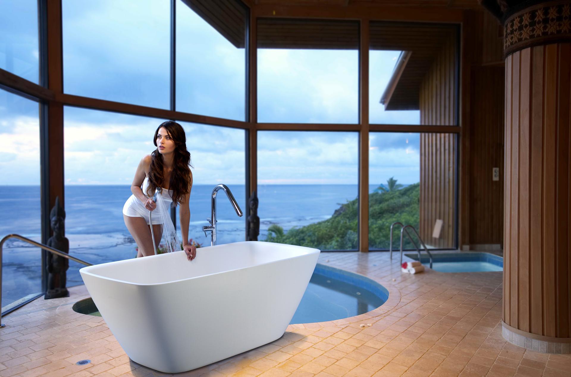 Arabella-wht Freestanding Stone Bath