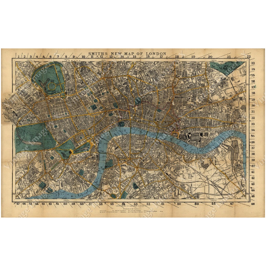 """Historic London Map England 1860 Restoration Hardware Style Old London Wall Map Vintage Map Of London poster print English Map Decor - 11\"""" x 17\"""" inches [$14.00] 56d17a286a3d6f14148b4805"""