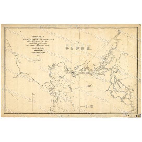 "1850 Old California Map of San Francisco Bay Nautical Chart Wall Map Restoration Hardware style map coastal map Large Map - 11"" x 14\"" inches [$14.44]"
