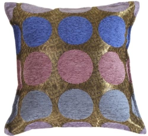 Pillow Decor - Multicolor Spheres Blue Pillow 55b6d0a7a2771c5c5d8b49a6