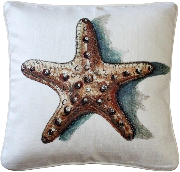 Tracy Effinger - Ponte Vedra Star Fish Throw Pillow 20x20 55b6d0aea2771cde5d8b4a5c