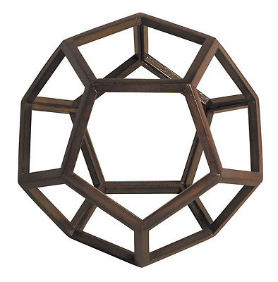 """Dodecahedron 3D Geometric Ether Wooden Model 9\"""" Polyhedron Office Home Accent 55b69a57a2771c7c258b61ee"""