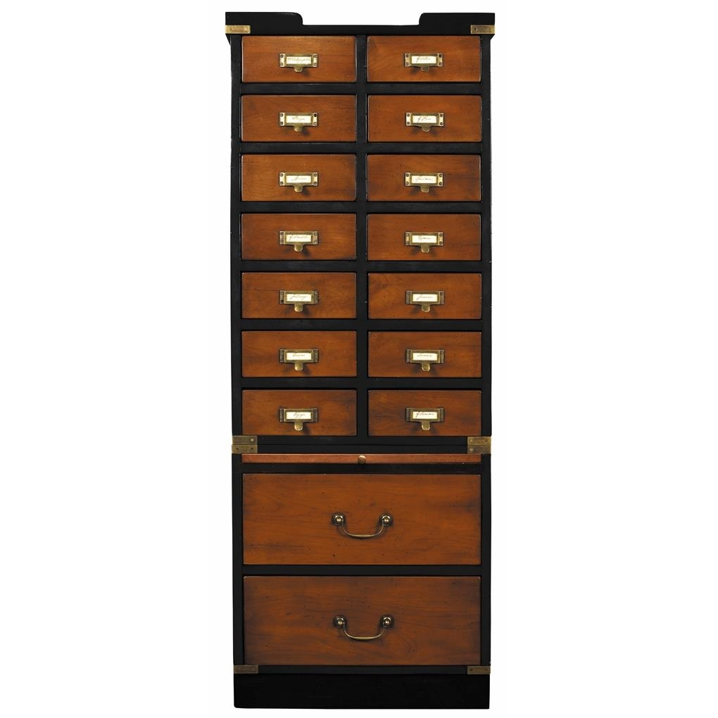 "Collectors Cabinet, Drawers 57"" Nautical Collection Collectables Storage"