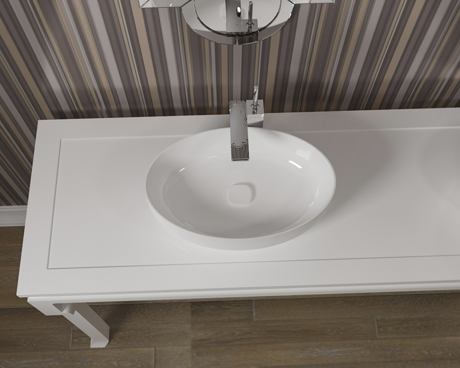 Metamorfosi-wht Oval Ceramic Bathroom Vessel Sink