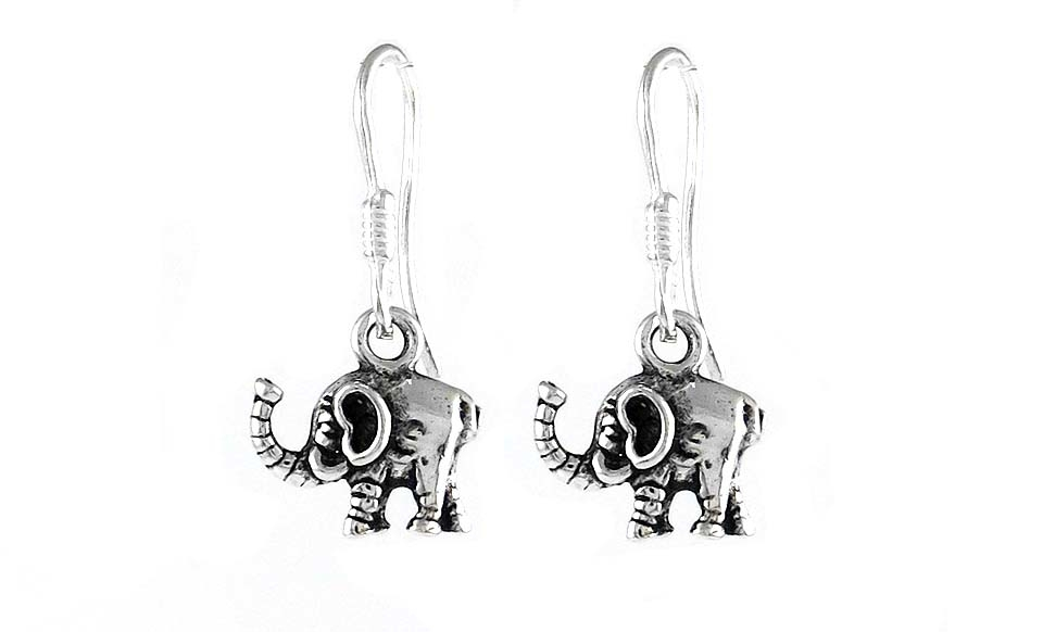 Solid sterling silver Elephant Drop earrings 56f591ee8e3d6fc6088b484d