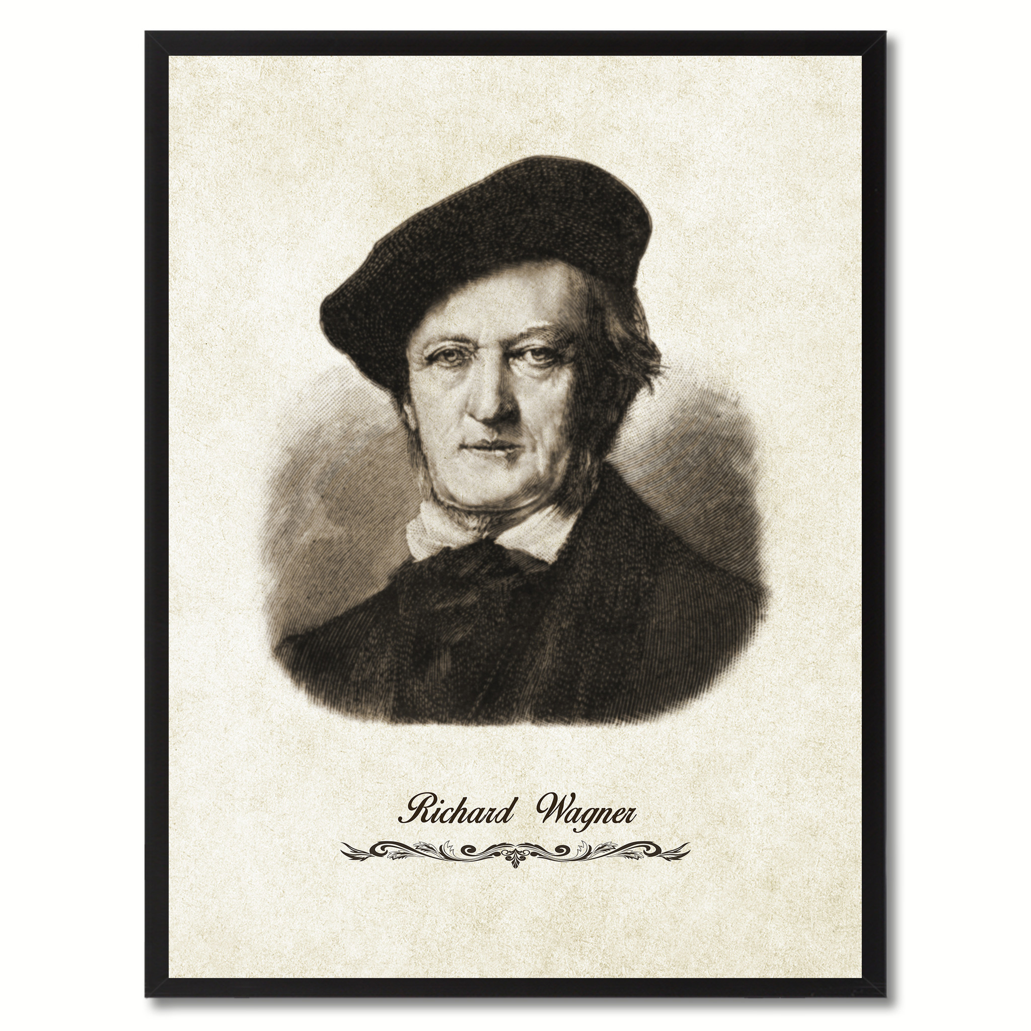 """Wagner Musician Canvas Print Pictures Frames Music Home Décor Wall Art Gifts - 7\""""x9\"""""""