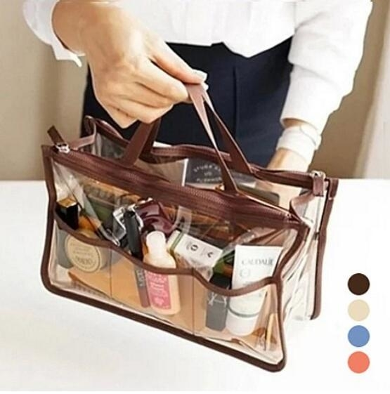 Clear Purse Organizer Insert for Handbags Multi Colors - Blue (GIFTSTO-8D4A) photo