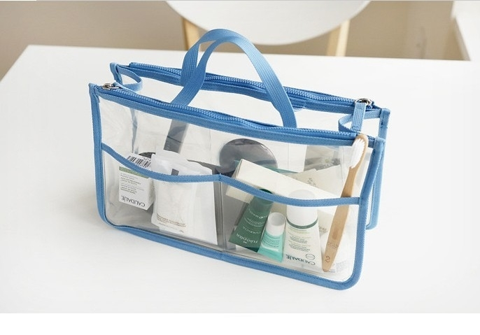 Clear Purse Organizer Insert for Handbags Multi Colors - Blue (giftstores) photo
