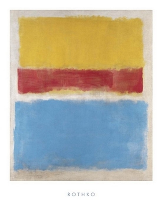 Untitled (Yellow Red and Blue) Poster Print by Mark Rothko (24 x 32) 57307ec1a3771c41488b61c2