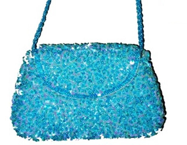 Sequin Beaded Purse TURQUOISE # SP14 (SEQUINW-F36A) photo