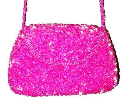 Sequin Beaded Purse FUSHIA Hot Pink # SP14 (SEQUINW-5EDB) photo