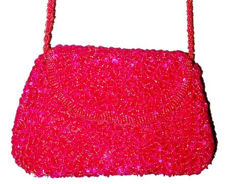 Sequin Beaded Purse RED # SP14 (SEQUINW-39A4) photo